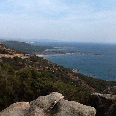 vue des hauts de la marine de Pietracorbara