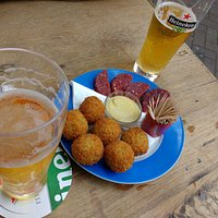 Croquettes and Dutch sausage!