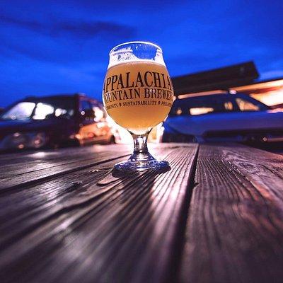 Night pint at Appalachian Mountain Brewery