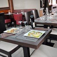 table au restaurant le Saint-Simon à Toulouse