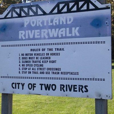 Sign describing the rules