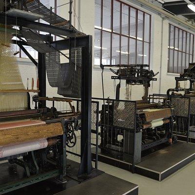 Modernere Maschinenwebstühle