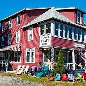 Maine-made crafts and fine art displayed on two floors.