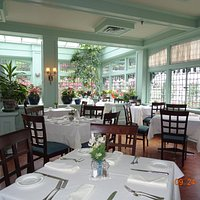 One of the beautiful rooms in the restaurant