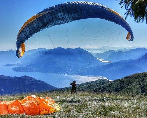 Flylibell tandem paragliding lake como