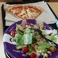 Chuck E Cheese - pizza lunch.