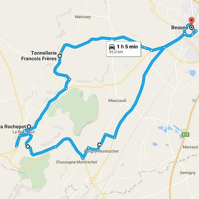 45 km wine route