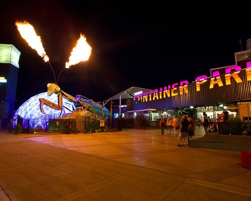 The Mantis in action at night!