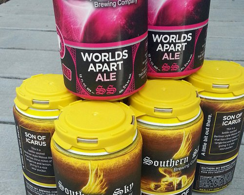 Now available in cans with your tour: Son of Icarus and World's Apart Ale