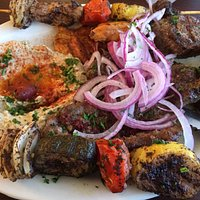 Combination kabob with no rice. SO MUCH FOOD!!!