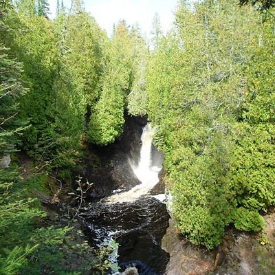 The first falls on the Cascade River hike.