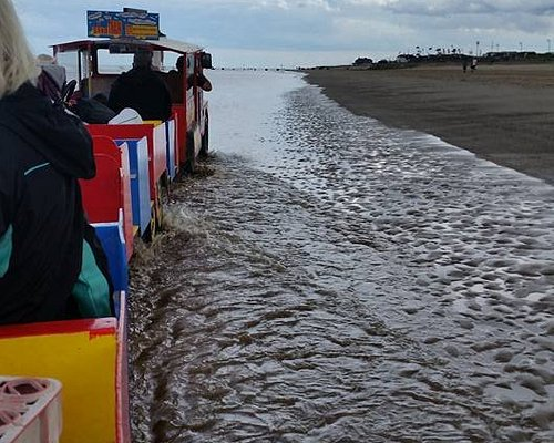 sand train in sea