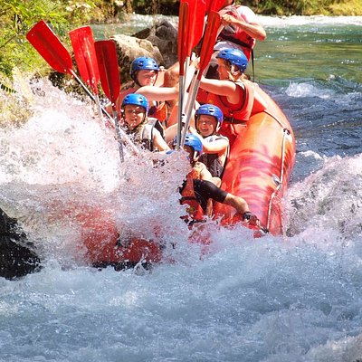 white water rafting fun