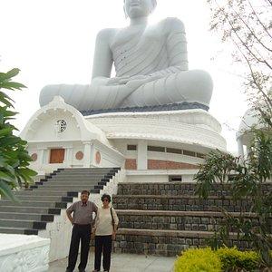 NEAR BUDDHA'S STATUE
