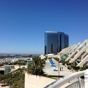 View of the Marriott hotel from the Convention Center