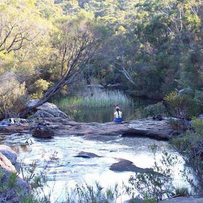 We did this the easiest trail to kingfisher pool. walk downhills after parking on warabin st. 30