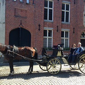 Horse drawn carriage tour of Historical Brugge