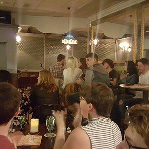 Crowd enjoying CCCahoots Comedy Club