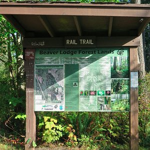 Info station at both ends of trail(s)