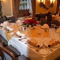 Christmas Party dining at La Fleur de Lys