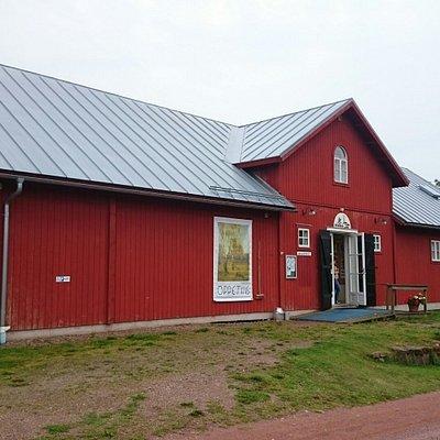 Den tidigare ladan nu ombyggd till konstmuseum