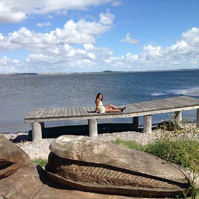At the Livø pier.
