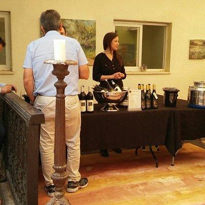 Wine presentation in Ella valley winery