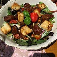 Salade gebakken biefstuk