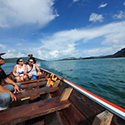 Board on Long Tail boat for a scenic boat riding and exploring