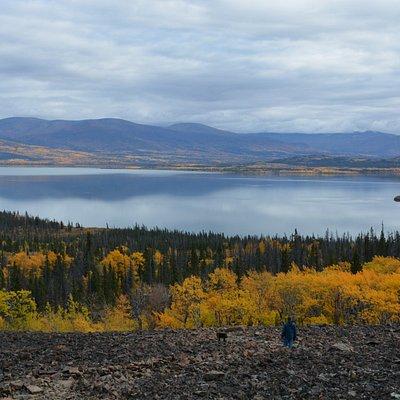 Rock Glacier Trail: views of Dezadeash Lake