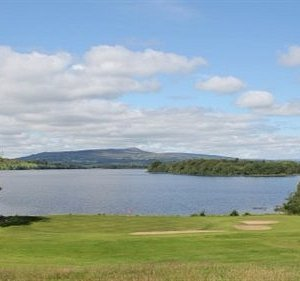 The fourth green - on the shores of the beautiful Lough MacNean