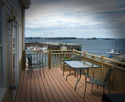 View from the back deck of the Tide Watcher at The Commons of Eastport Maine