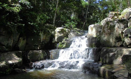 A really nice natural pool and casade to swim, located between La Pita and El Cebollal.