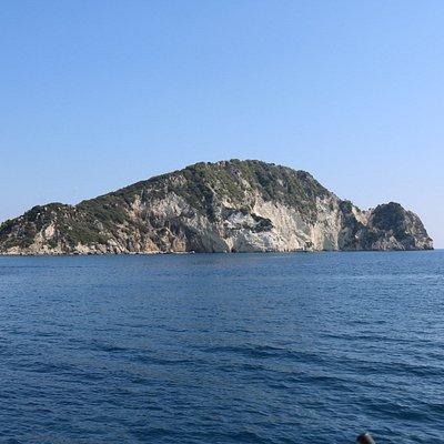 Maratonissi island taken from the boat