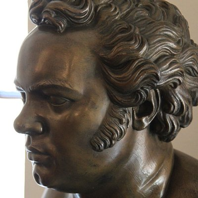 bust in the museum