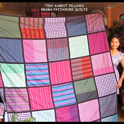 Cambodian Krama Patchwork Quilts - We make these and sell them for $35