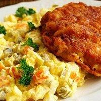paneuropean speciality, REZEN(Snitzel) with (Zemiakovy) potato salad