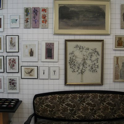 Art prints, paintings and a cosy place to rest