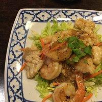 Seafood Garlic & Black Pepper stir fry Racha Thai Restaurant
