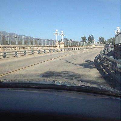 The Bridge curves across the Arroyo Seco
