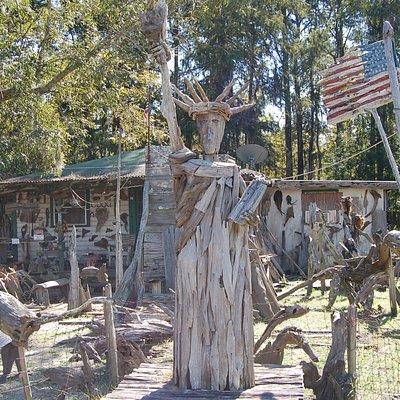 Driftwood Statue of Liberty