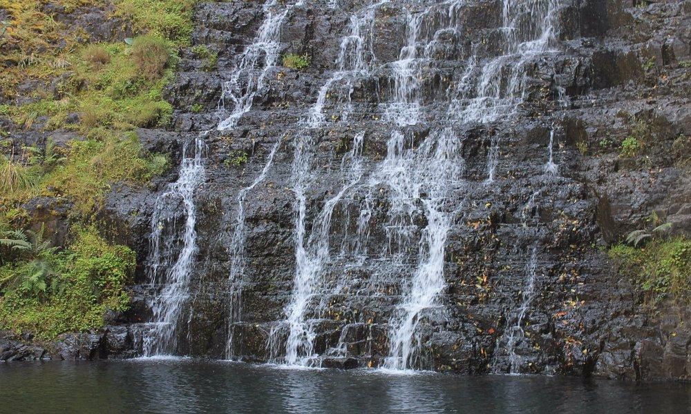 The falls at base