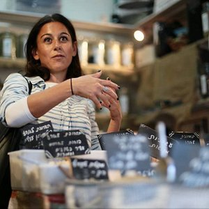 The Curious Foodi sharing her knowledge and passion in the markets around Tel Aviv