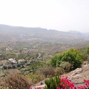 Widok na wąwóz Barranco de Tirajana