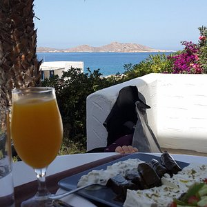 greek cuisine welcome in our balcony with sea view