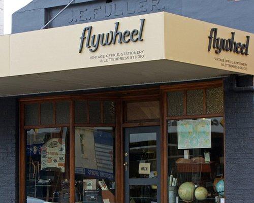 Flywheel store front