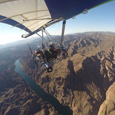 Colorado River Flight in an Ultralight powered Han-Glider