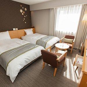 The Twin Room at the Richmond Hotel Sapporo Ekimae