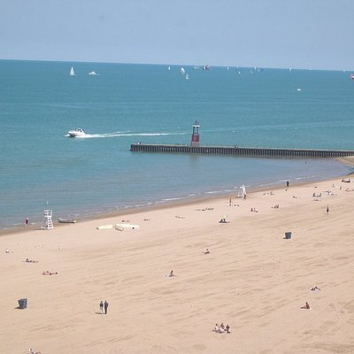 Perfect summer day at Kathy Osterman Beach, Chicago