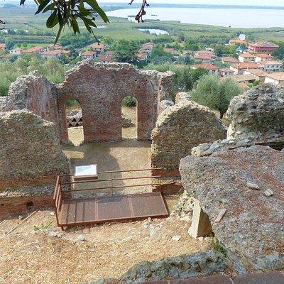 lake Massaciuccoli reserve-remains of Roman villa overlooking the lake